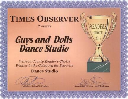 Thank You Warren Times Observer Readers For Choosing Guys And Dolls Dance Studio Your Favorite 2017
